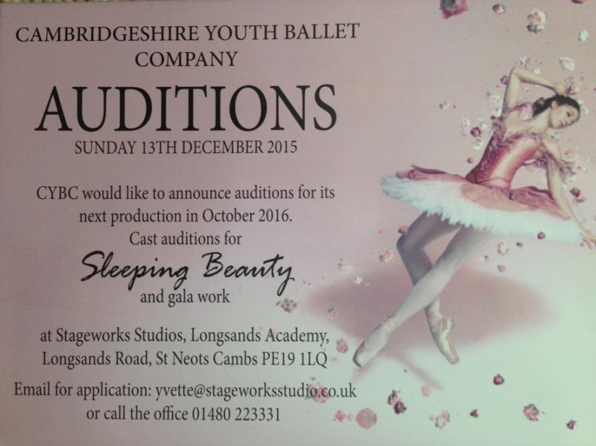 AUDITIONS -Cambridgeshire Youth Ballet