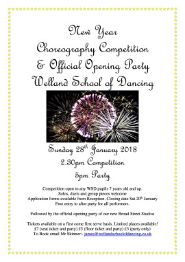 New Year Choreo Competition and official Opening Party!