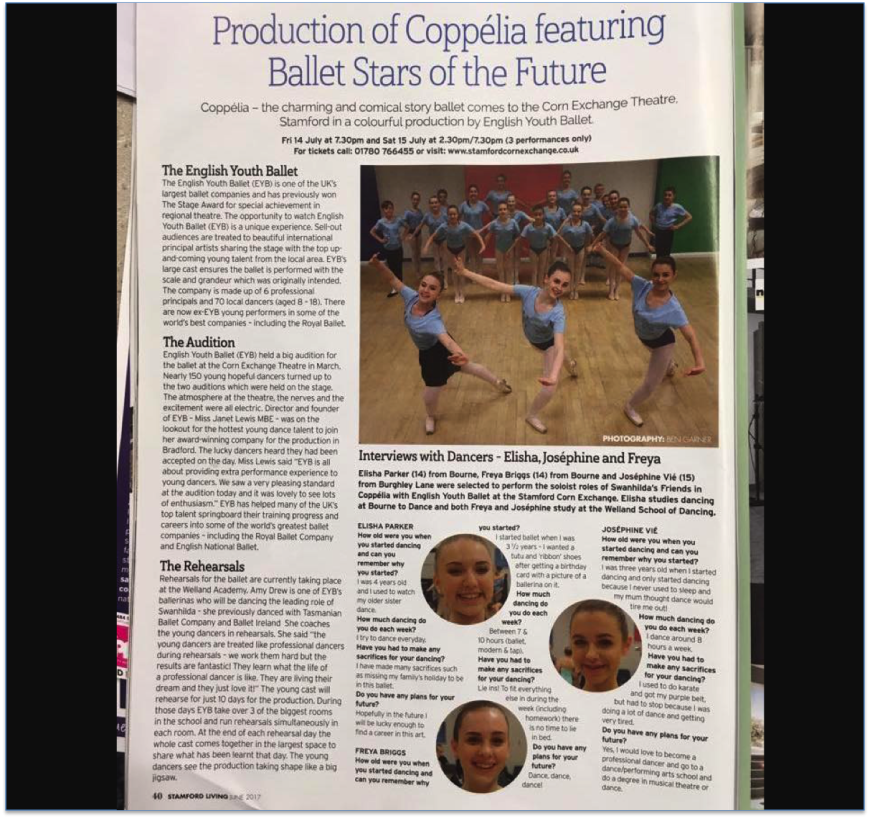 English Youth Ballet -Production of Coppelia