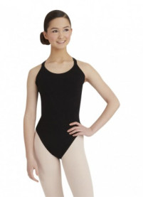 Black Capezio Double Strap Camisole Leotard